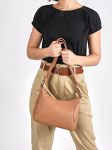 Leather Zurie Crossbody Bag Nathan baume Brown cruise 28-vue-porte