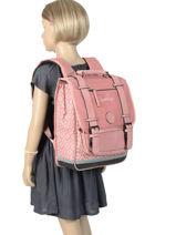 Backpack 2 Compartments Cameleon Pink vintage fantasy PBVGSD38-vue-porte