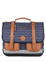 Satchel 3 Compartments Cameleon Blue vintage urban PBVBCA41
