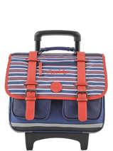 Wheeled Schoolbag 2 Compartments Cameleon Blue vintage urban PBVBCR38