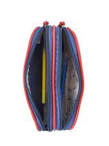Pencil Case 2 Compartments Cameleon Blue vintage urban PBVBTROU-vue-porte