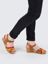 Sandals in leather-MEPHISTO-vue-porte