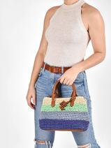 Sac à Main Mini Marcy Ii Paille Crochetée Lauren ralph lauren dryden 31826568-vue-porte