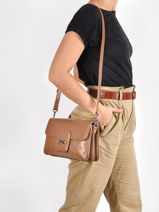 Leather Inès Crossbody Bag Nathan baume Brown ines 2NB-vue-porte