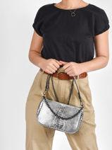 Leather Stampa Shoulder Bag Milano Silver stampa ST20073-vue-porte
