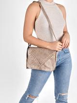 Shoulder Bag Aude Miniprix Beige aude MD8213-vue-porte