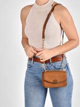 Leather Madison Crossbody Bag Lauren ralph lauren Brown elmswood 31826054-vue-porte