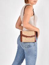 Holly Shoulder Bag Vanessa bruno Brown holly 67V40820-vue-porte
