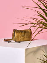Leather Stampa Crossbody Bag Milano Gold stampa ST20072