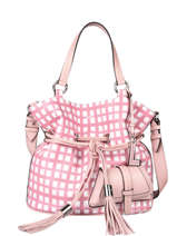 Medium Leather Premier Flirt Vichy Bucket Bag Lancel Pink premier flirt A11533