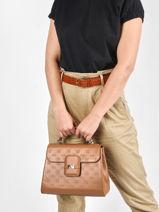 Leather Ines Top-handle Bag Nathan baume Brown ines 1NB-vue-porte