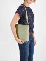Crossbody Bag Tiki Mini Leather Nathan baume Green victoria 86-vue-porte