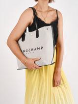 Longchamp Essential toile Hobo bag Beige-vue-porte
