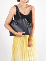 Longchamp Roseau essential Besaces Bleu-vue-porte