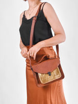 Shoulder Bag Dore Leather Paul marius Brown dore GEORGDOR-vue-porte