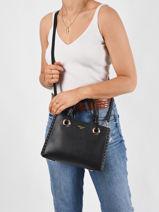 Sac Porté Main Couture Couture Miniprix Noir couture R1550-vue-porte