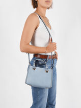 Sac Porté Main Couture Miniprix Bleu couture R1550-vue-porte