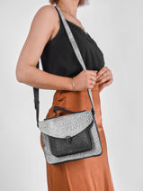Shoulder Bag Empreinte Leather Paul marius Silver empreinte GEORGEMP-vue-porte