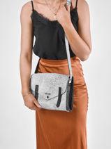 Shoulder Bag Empreinte Leather Paul marius Silver empreinte INDISEMP-vue-porte