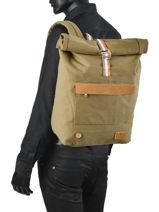 Backpack Faguo Green kaki 21LU0101-vue-porte