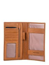 Leather Louisa Continental Wallet Miniprix Brown louisa F3521-vue-porte