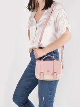 Crossbody Bag Estival Lulu castagnette Pink estival ORGEUIL-vue-porte