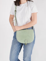 Shoulder Bag Vintage Miniprix Green vintage F8042-vue-porte