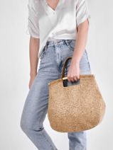 Shoulder Bag Coquelicot Woomen Beige coquelicot WCOL05-vue-porte