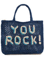"Jute Shopping Bag ""you Rock!"" The jacksons word bag YOUROC"