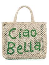 "Jute Shopping Bag ""ciao Bella"" The jacksons word bag CIAOBE"
