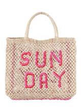 Sac Cabas Sunday The jacksons Rose word bag SUNDAY