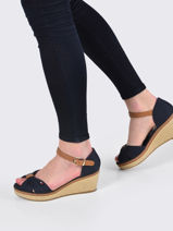 Wedge sandals iconic elba-TOMMY HILFIGER-vue-porte