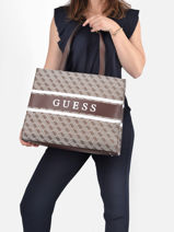 Shoulder Bag Monique Guess Brown monique JY789423-vue-porte