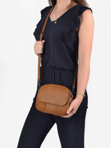 Shoulder Bag Grained Miniprix Brown grained F8034-vue-porte