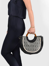 Handbag Ethnic Miniprix Black ethnic BV20028-vue-porte