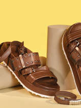 Sandals in leather-MJUS