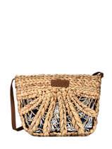 Raffia Crossbody Bag Hawai Le voyage en panier Beige hawai PM460