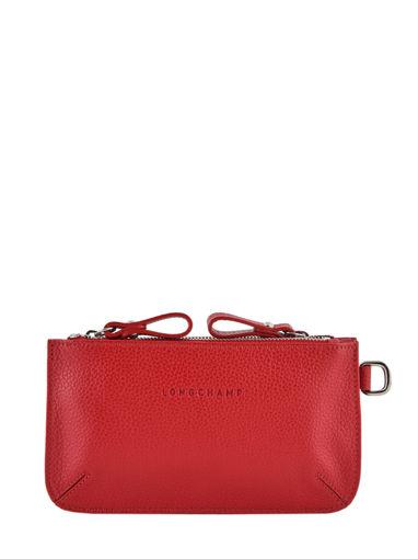 Longchamp Le foulonné Porte-monnaie Rouge