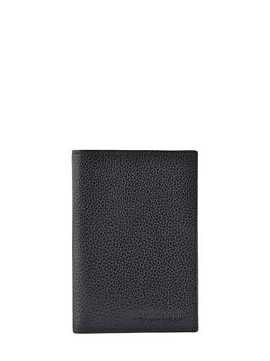 Longchamp Le foulonné Passport cover Brown