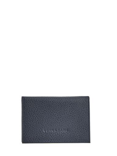 Longchamp Le foulonné Bill case / card case Blue