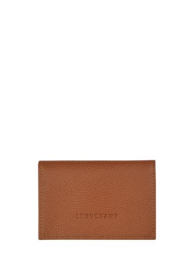 Longchamp Le foulonné Bill case / card case Beige