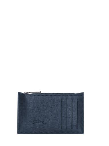 Longchamp Baxi grainÉ Porte-monnaie Bleu