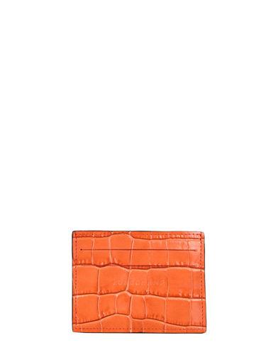 Longchamp Le pliage cuir croco Porte billets/cartes Bleu