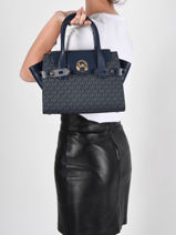 Handbag Carmen Michael kors Blue carmen S0GNMS1B-vue-porte