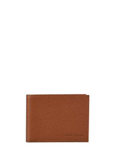 Longchamp Le foulonné Bill case / card case Brown