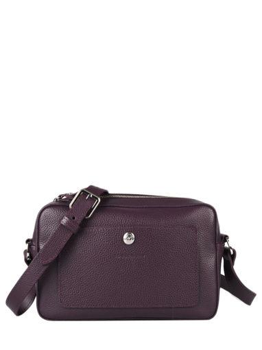 Longchamp Le foulonné Messenger bag Violet
