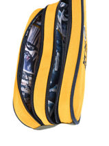 Pencil Case 2 Compartments Ikks Yellow backpacker in tokyo 20-12836-vue-porte