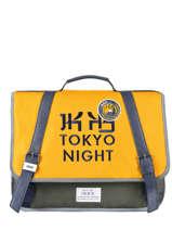 Satchel 2 Compartments Ikks Yellow backpacker in tokyo 20-38836
