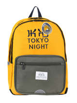 Backpack 2 Compartments Ikks Yellow backpacker in tokyo 20-63836