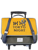 Wheeled Schoolbag 2 Compartments Ikks Yellow backpacker in tokyo 20-42836